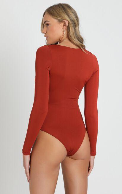 No Chills bodysuit In rust - 14 (XL), Rust, hi-res image number null