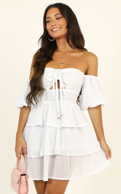 Call On Me Dress in white - 14 (XL), White, hi-res image number null