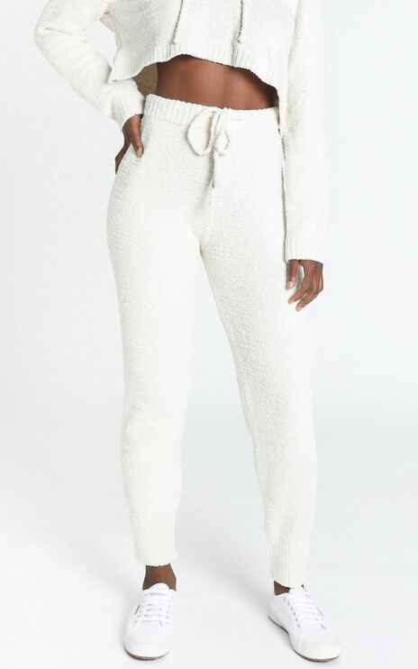 Adelie Super Soft Knit Pants in Cream