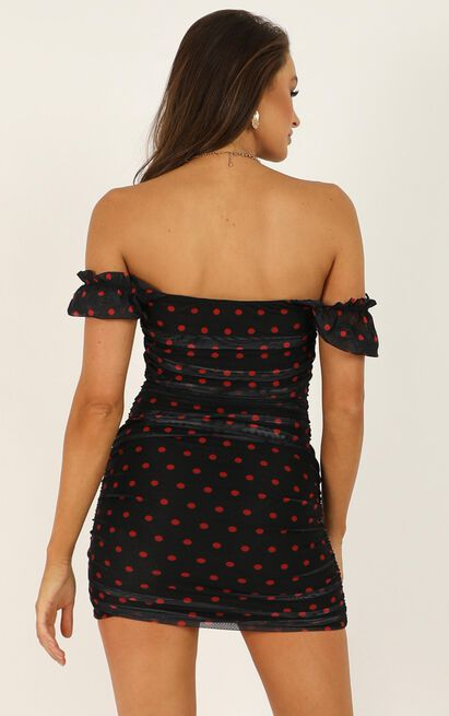 Best Fake Smile Dress In Black Spot - 16 (XXL), Black, hi-res image number null