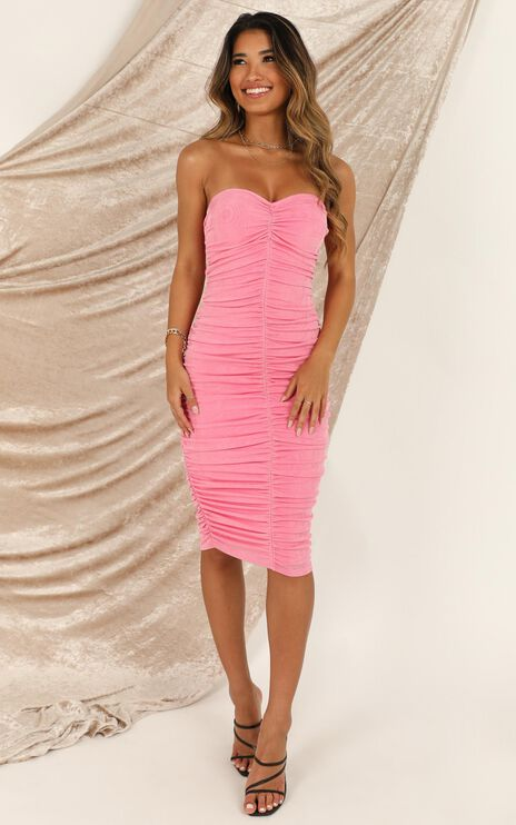 Stay in Touch Dress In Pink