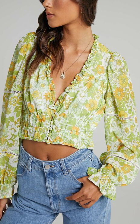 Eze Top in Harmony Floral Chiffon