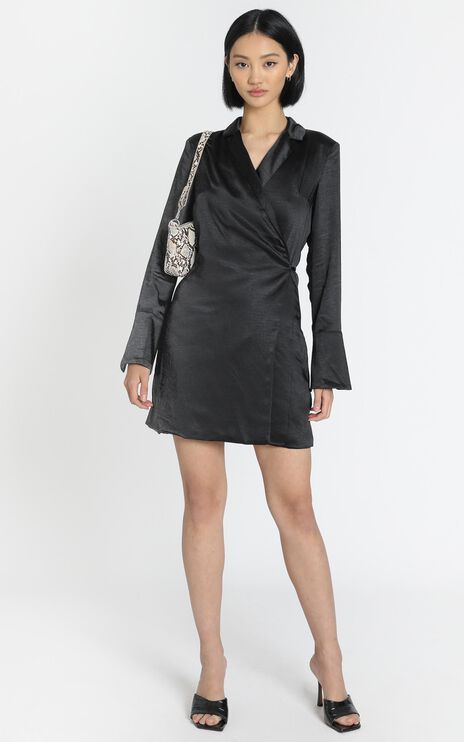 Lioness - Catching Feelings Mini Dress in Black