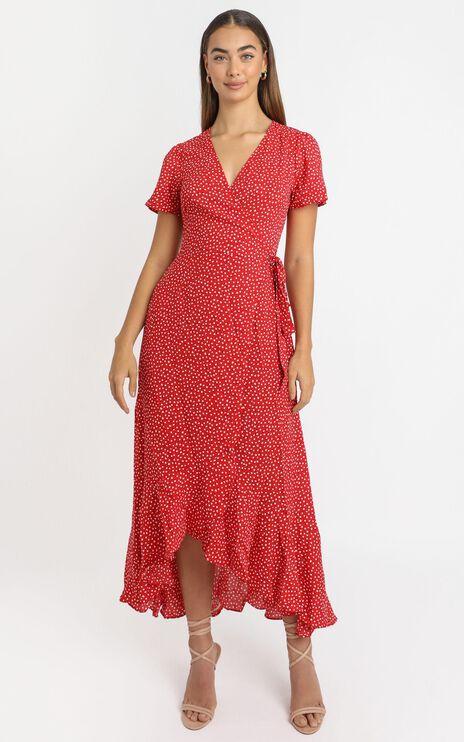 Zarah Dress in Red Spot