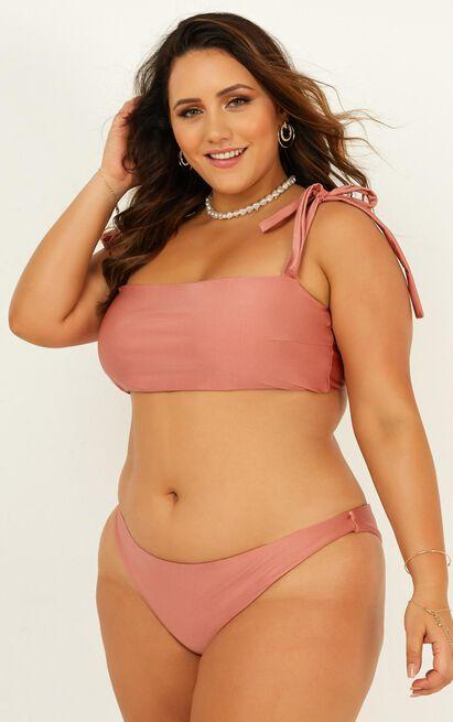 Paityn bikini top in  rose metallic - 20 (XXXXL), Blush, hi-res image number null