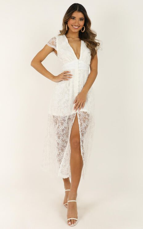 She Dances Across The Porch Dress In White Lace
