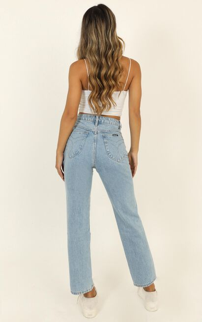 Rollas - Original Straight Jean In Sunday Blue - 14 (XL), Blue, hi-res image number null