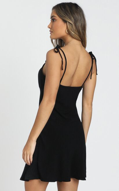 Pretty Mind Gathered Dress in black - 6 (XS), Black, hi-res image number null