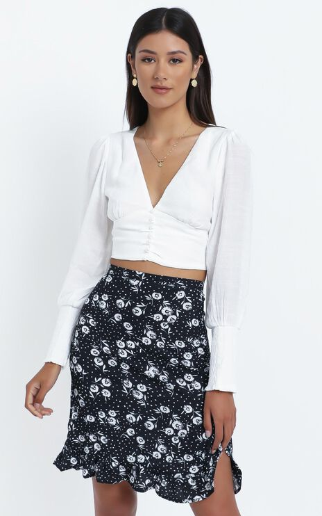 Aston Skirt in Black Floral