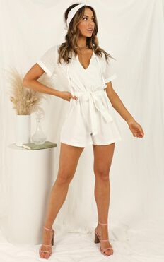 Northern Sun Playsuit In White