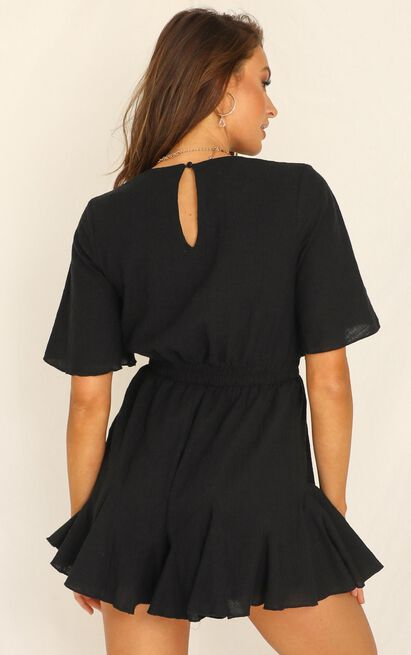 Pictures in My Head Playsuit in black - 20 (XXXXL), Black, hi-res image number null