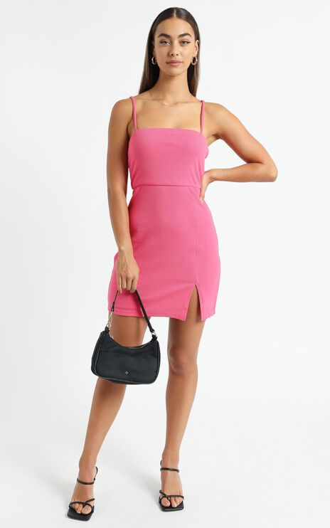 Island Babe Dress in Hot Pink