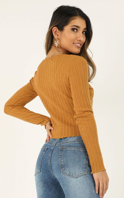 As You Find Me top in mustard - 12 (L), Mustard, hi-res image number null