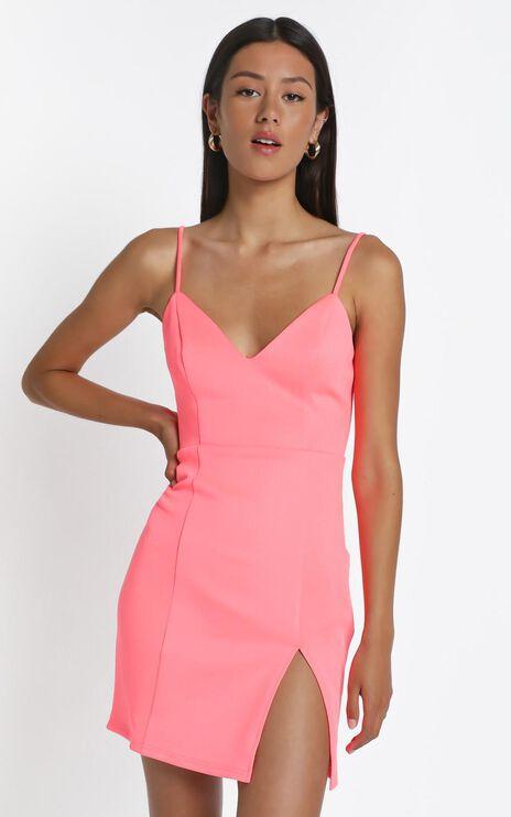 Lets Unwind Dress in Hot Pink