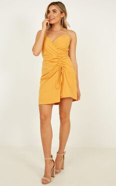 Alone Together Dress In Mustard