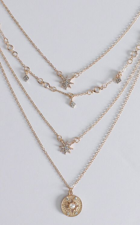 Joy Layered Necklace In Rose Gold