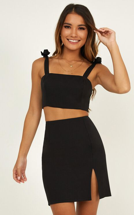 Just Like Fire Two Piece Set In Black