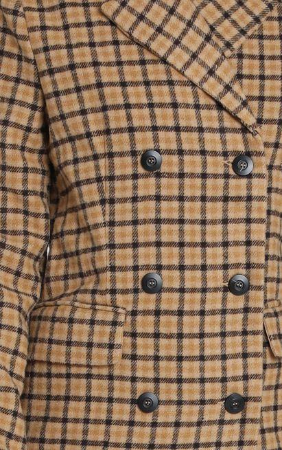 Heroic Moment Coat In Beige Check - 14 (XL), Beige, hi-res image number null