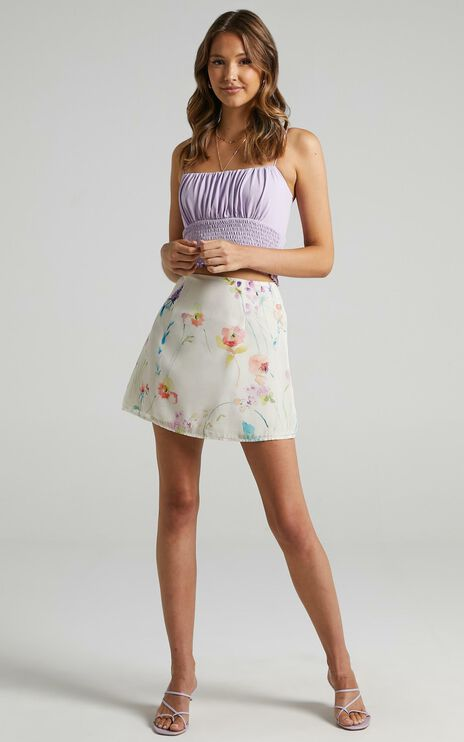 Only Offer Skirt in Watercolour Floral