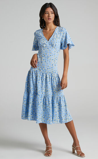 Oklahoma Dress in Blue Floral