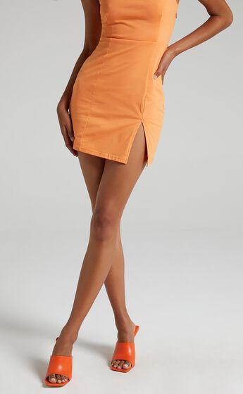 Public Desire - Zavia Heels in Orange PU