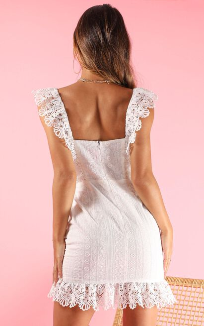 Make It Out dress in white lace - 16 (XXL), White, hi-res image number null