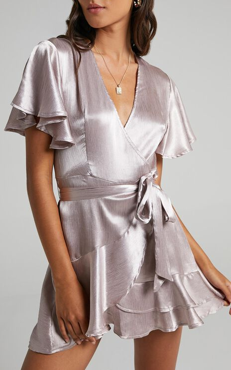 All I Want To Be Dress In Silver Satin