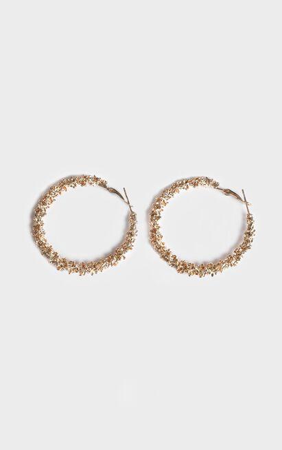 New Film Hoop Earrings In Gold, , hi-res image number null