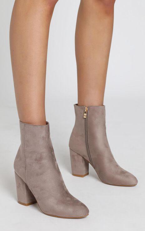 Billini - Darcy Boots in Dark Taupe Micro