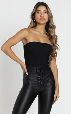 Chances Are High Bodysuit in black
