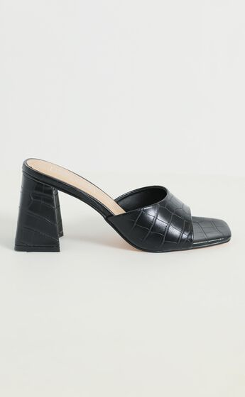 Therapy - Colina Heels in Black Croc