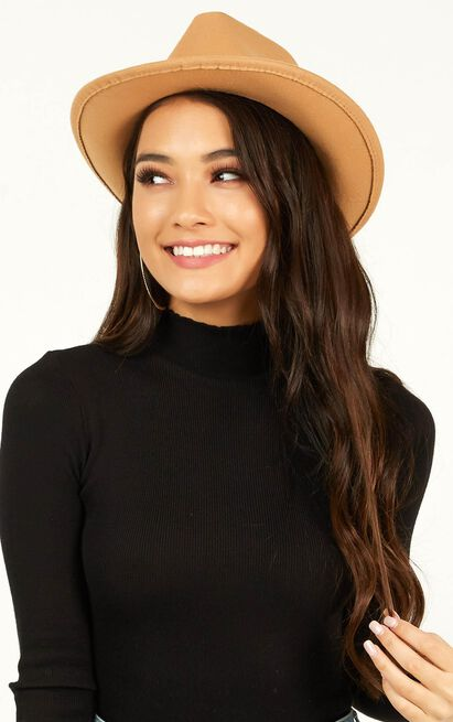 Queen Of It All Hat In Tan, Tan, hi-res image number null