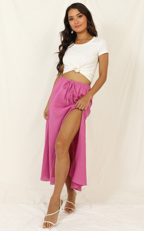 Break The Habit Skirt In Pink