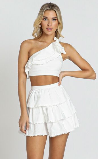 Rooftop Spritz Two Piece Set in White