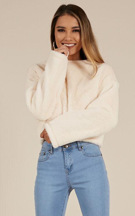Chill Night Sweatshirt In Cream