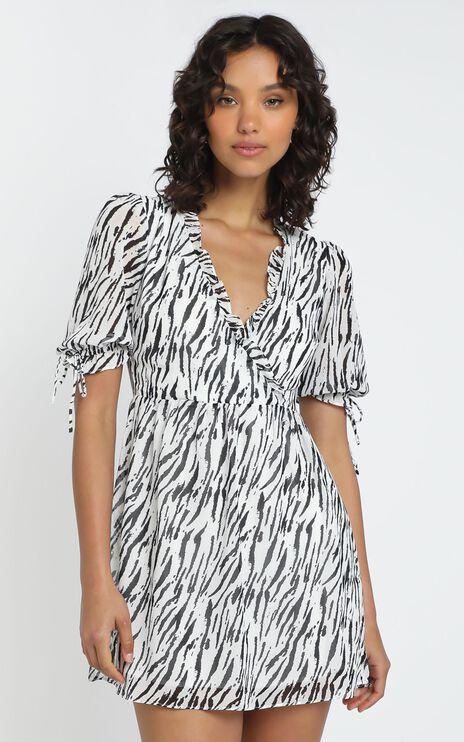 Sheena Dress in Zebra Print