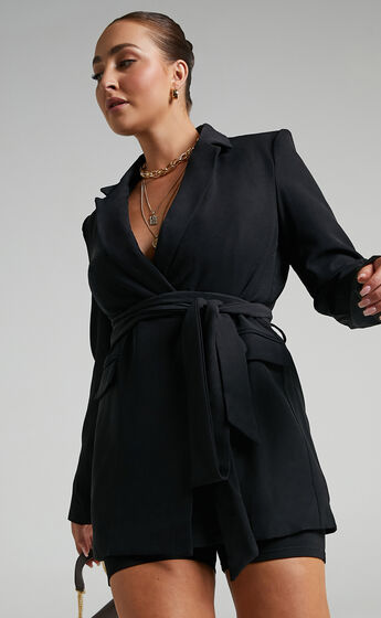 Antoni Belted Blazer in Black