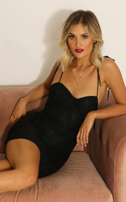 Love Is Yours Dress In black lace - 20 (XXXXL), Black, hi-res image number null