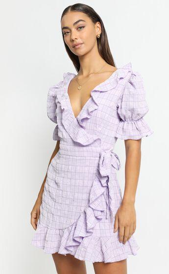 Cora Dress in Lilac Check