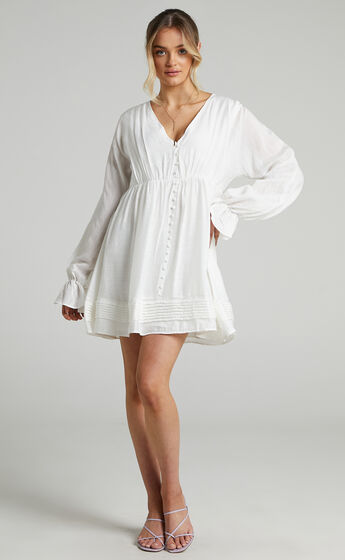 Perrine Shift Mini dress in White