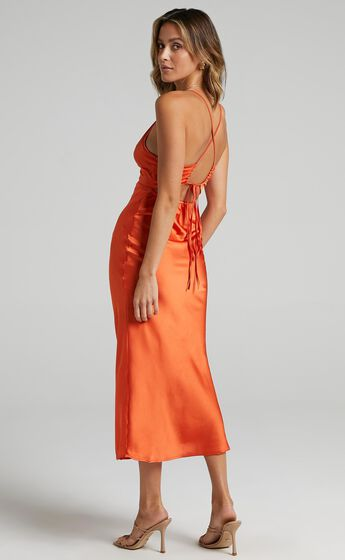 Nataliah Dress in Orange