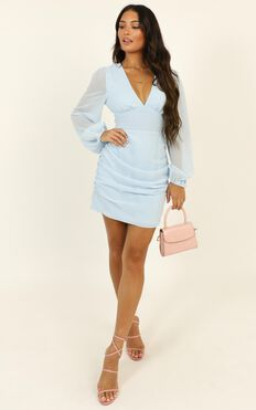 Party Just For Fun Dress In Light Blue