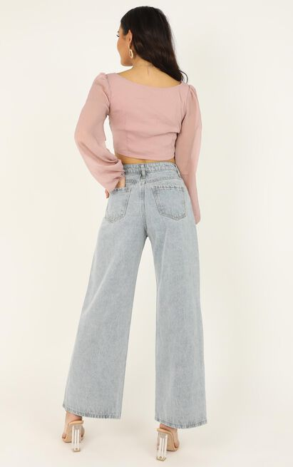 Roxy Jeans In light blue denim - 14 (XL), Blue, hi-res image number null