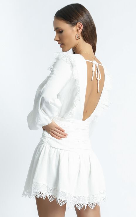 Bellevue Dress in White