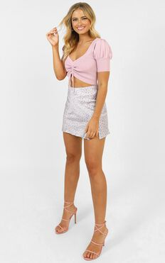 Better Now Knit Top In Pink