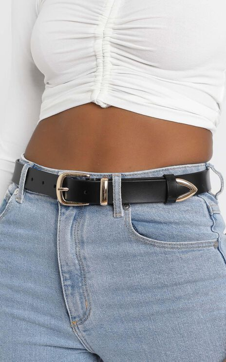 Perfect Illusion Belt in Black and Gold