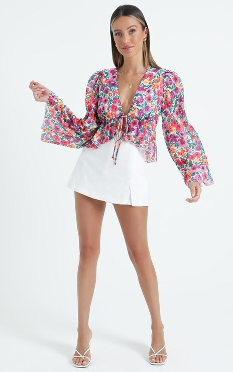 Dance It Out Top in Packed Floral