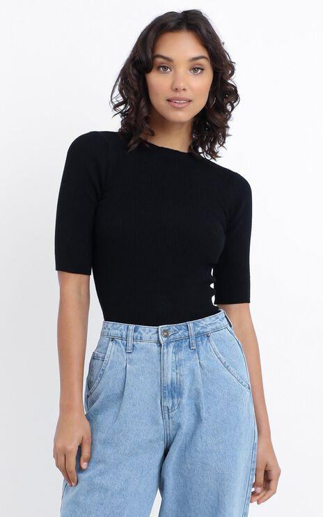 Elish Knit Top in Black