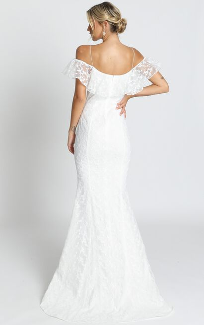Forever Gown in white lace - 20 (XXXXL), White, hi-res image number null