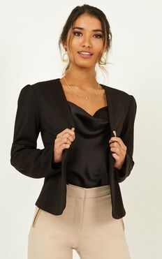 Meeting With You Blazer In Black